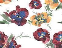 Watercolor patterns/ Flowers