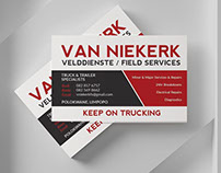 Van Niekerk Business Card