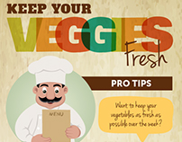 Keep Your Veggies Fresh - Infographic