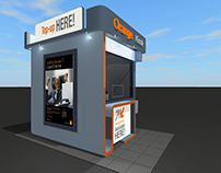 Orange sample booths