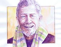John Hurt - Watercolor Painting/Drawing