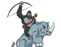 Gorilla-stration