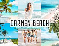 Free Carmen Beach Mobile & Desktop Lightroom Presets