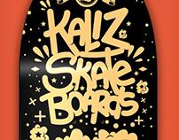 Diseño Skateboard Kaliz Store - GOLD SKULL