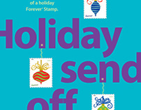 USPS 2011 Holiday Stamps Postcard