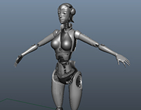 3D Female Android