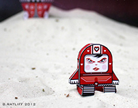 Queen of Hearts with Rocket Ship Paper Toy