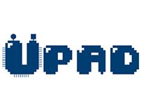 Creación de logotipo Upad - piezas gráficas