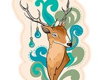 Deer with Lamps