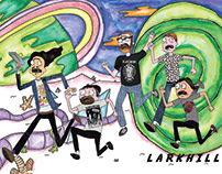 Cartoon Sticker Design for DIY Punk Band - Larkhill