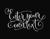 Custom Lettering