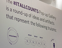 #itallcounts campaign pop-up gallery