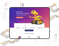 3D Project Management Homepage