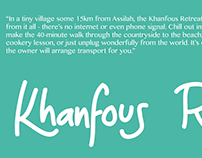 Khanfous retreat flyers