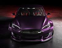 Tesla Model S Widebody CGI