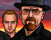 Breaking Bad Portrait Illustrations