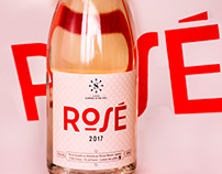 Sarat d'en Sol Rosé & White wine labels