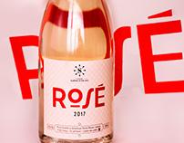 Sarat d'en Sol Rosé & White wine labels
