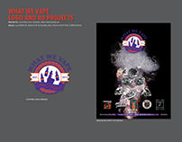 What We Vape - Logo and Print Ad