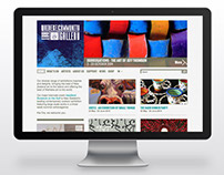 Waiheke Community Art Gallery - Website design