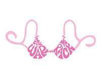 Logo for breast cancer run team