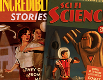 SciFi Science: Retro / Vintage Book Covers