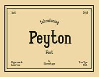 PEYTON - Free Font