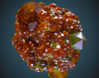 Creases and Crystals/C4D/Daily Renders