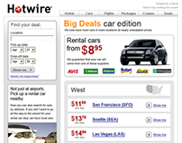 Hotwire email redesigns