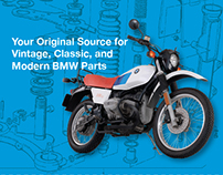 Bob's BMW magazine ad series. Vintage and modern parts