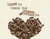 Home Is Where The Hive Is - honey jar label