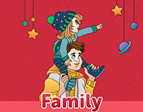 Coloring anti-stress for mobile app. Family.