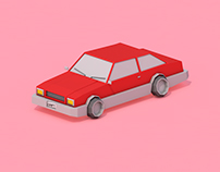 Low Poly Drift Car (Old School)