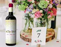 Label Design for Wedding Wine Bottle