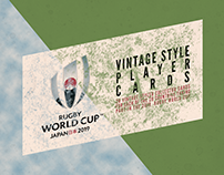 2019 Rugby World Cup   Vintage Style Player Cards