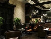 "HOTEL R.I.X.O.S Louge bar ""Biblioteque"" (Almaty)"