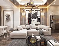 Livingroom&kitchen design