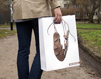 I like walking barefoot - paper bags