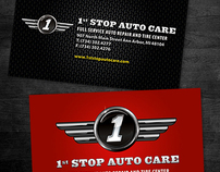 1st Stop Auto Care Business Cards