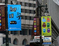 Central Market Street Banners