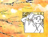 Anna e il drago (fumetto). Inchiostrazione + acquerello