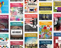 Capas das Revistas Linha Direta e Presença Pedagógica