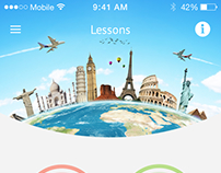 Lystra nyelvoktató app redesign (iOS/Android)