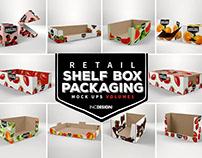 Mockup Template: Retail Shelf Box Packaging Vol 01