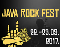 Java rock fest poster and social media visuals design