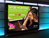 Poster Design | 30GB MONTHLY | ZONG 4G A NEW DREAM