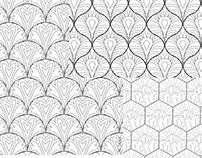 Textile Design Line Art
