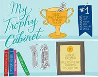 My Trophy Cabinet lettering illustration