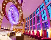 Radisson Blu Bukovel Resort interior and advertising