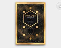 Black and Gold Flyer Template V21